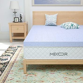 """Mecor 2 Inch 2"""" King Size Gel Infused Memory Foam Mattress Topper"""