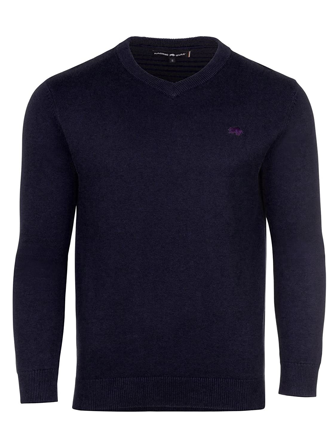 d77355df3a5033 Raging Bull Men's Big and Tall V-Neck Cott/Cash Sweater Jumper:  Amazon.co.uk: Clothing
