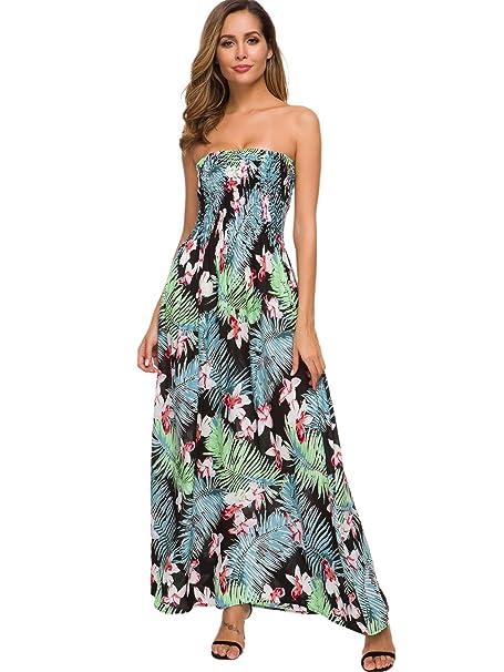provide plenty of choose original best deals on just quella Maxi Dresses for Women Summer Strapless Boho Beach Long Dress