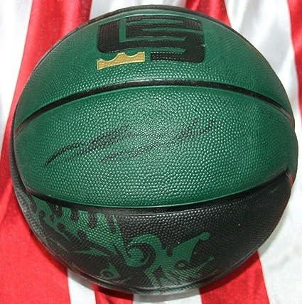 Signed Lebron James Nike Basketball Uda