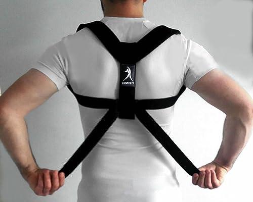 GREW Posture Corrector for Women & Men, Adjustable Back Posture Brace.