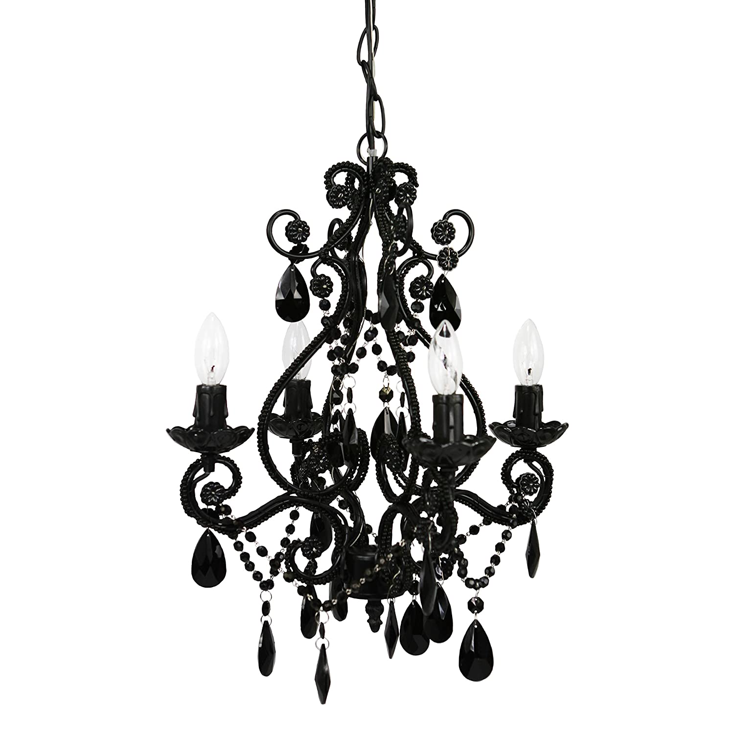 4 Bulb Mini Chandelier Black Onyx Home Kitchen How To Install A And Dimmer Switch Apps Directories