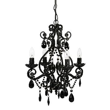 Amazon tadpoles 4 bulb vintage plug in mini chandelier black tadpoles 4 bulb vintage plug in mini chandelier black aloadofball Image collections