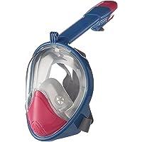 LC Prime Máscara de Snorkel Máscara de Buceo Gafas de Buceo Cara Completa de Respiración Máscara con Visión de 180 Grados Anti-Vaho Compatible con los Accesorios GoPro plástico Silicone Multicolored