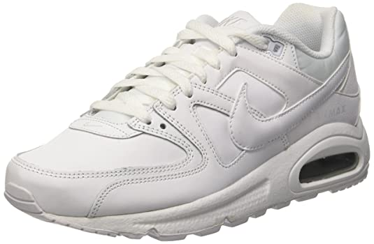 best website 3820f aadb9 Nike Men s Air Max Command Leather Low-Top Sneakers, Off White (Weiß  White Metallic Silver 102), 12 UK  Amazon.co.uk  Shoes   Bags