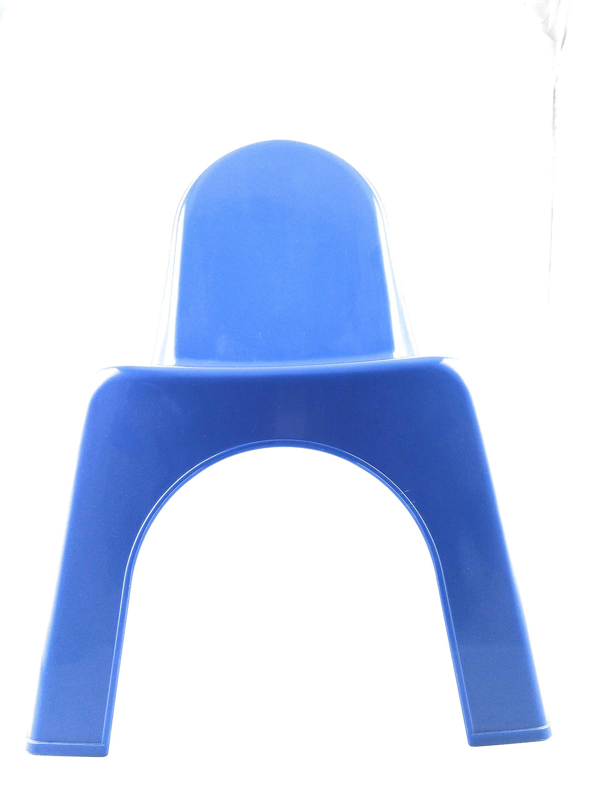 Child's Blue Plastic Chair