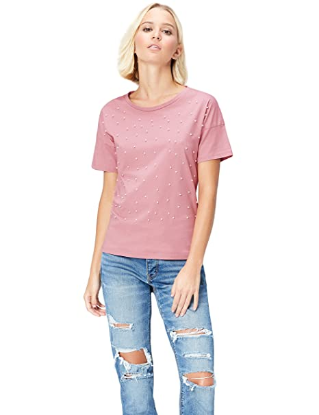 bc4c41a6349 find. Women s Crew Neck T-Shirt  Amazon.co.uk  Clothing