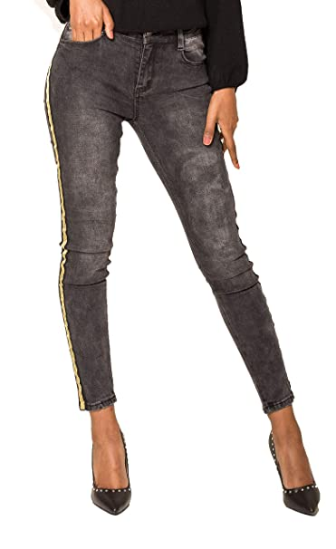 7242ee83aac6 Amazon.com  Glook Womens Side Stripe Washed Black Jeans High Waisted Pants  Skinny Jeans Denim Stretch Jeans  Clothing