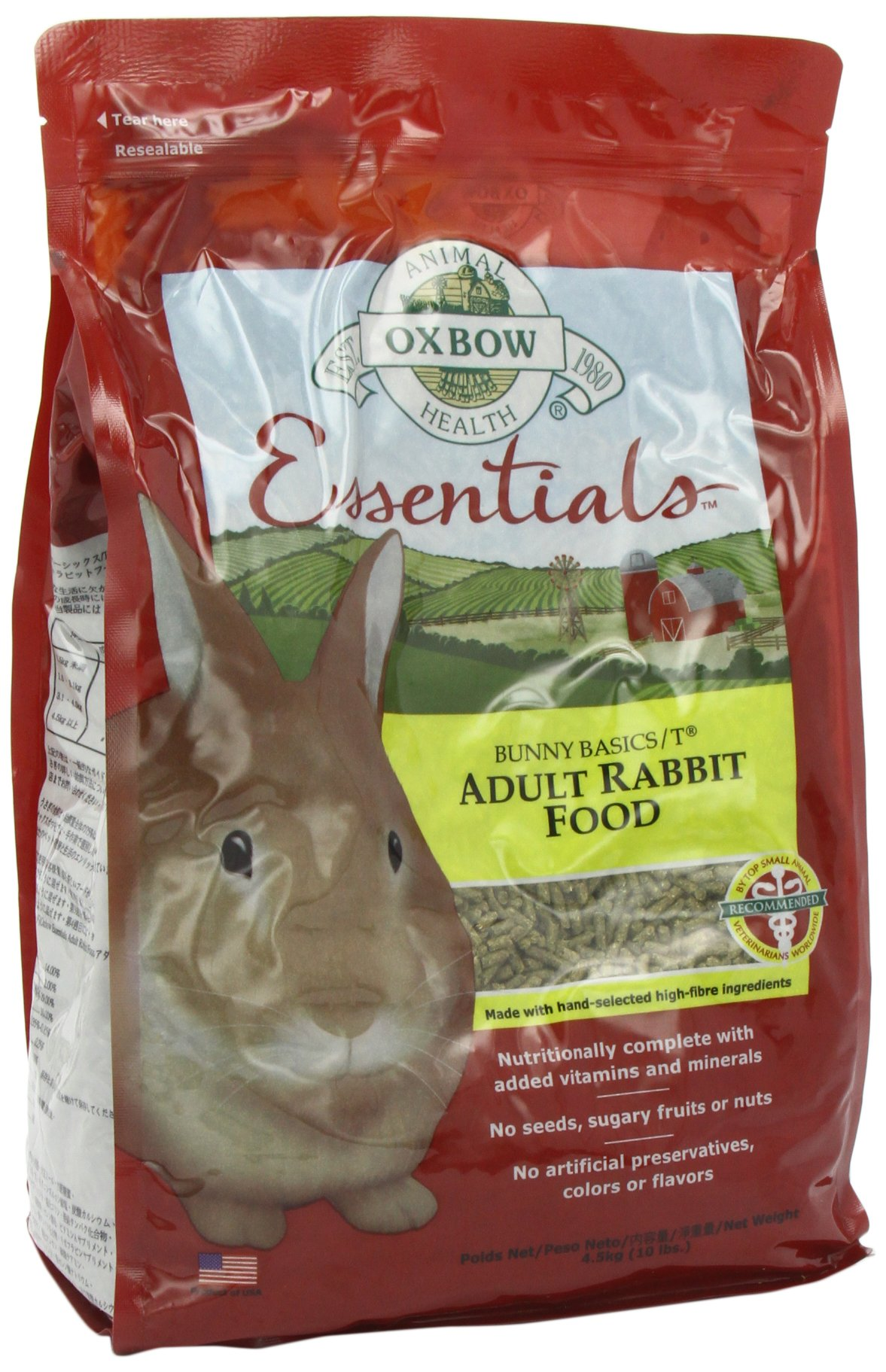 Petlife Oxbow Bunny Basics T Complete Feed for Adult Rabbit, 4.5 Kg