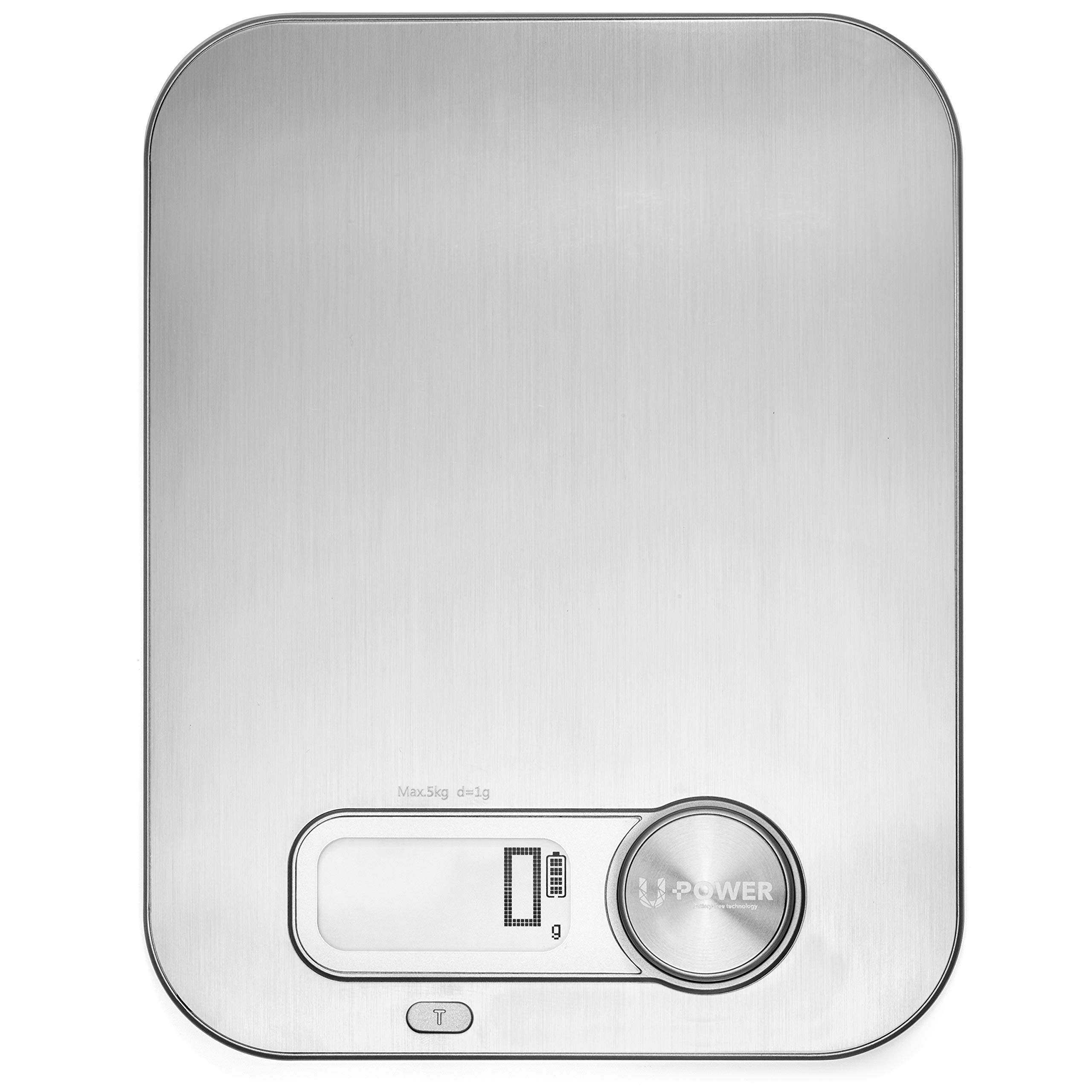 Vspeed ECO Digital Kitchen Scales NO BATTERY REQUIRED Stainless steel 11Lb Cord Free
