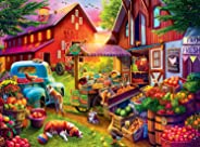 Buffalo Games - Country Life - Bells Farm - 1000 Piece Jigsaw Puzzle