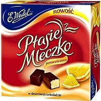 Ptasie Mleczko Orange Flavor Marshmallow Covered with Dark Chocolate (Birds Milk), 11.3 oz
