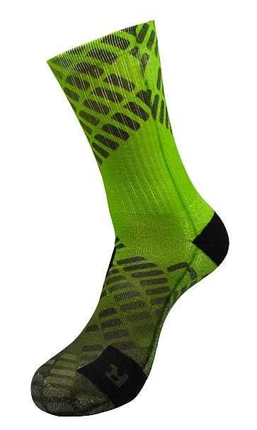STYLE FOREVER Dimensión de energía verde Active Athletic Calcetines deportivos personalizados (35-38)