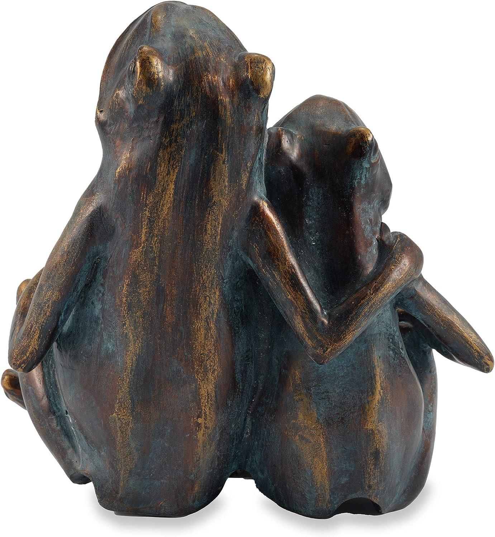 Schlauchl/änge ca Wasserspeier Figur Ente Lucky Duck aus Kunststein - : ca 240 x 200 x 320 mm Wassergarten Deko Teichfigur 1,0 m L x B x H Schlauchanschluss 8//12 mm esotec 100739