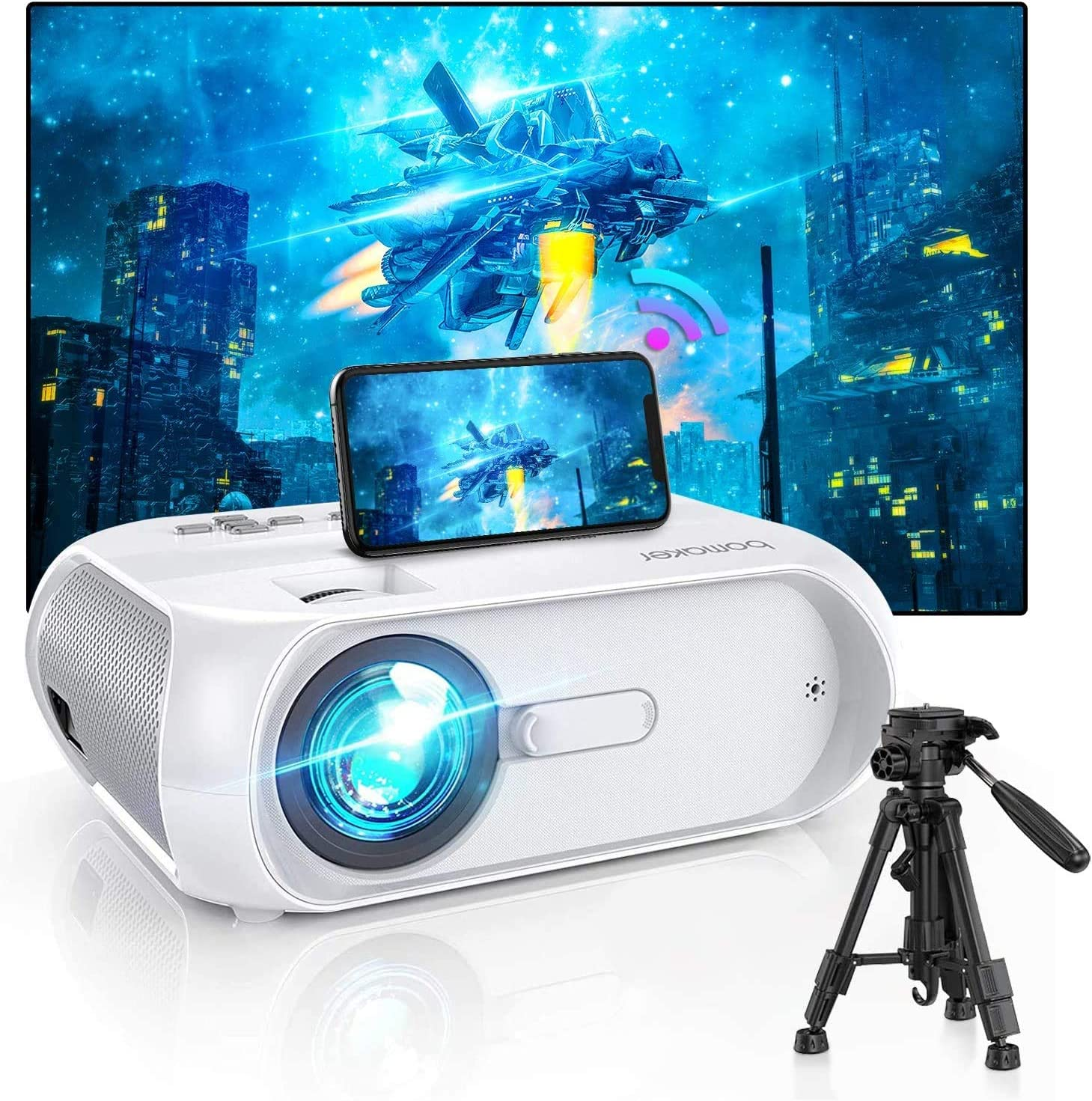 gaixample.org BOMAKER WiFi Projector Full HD 1080P Supported TV ...
