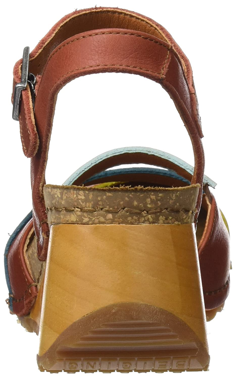 Art Damen 1323 Rot Memphis Borne Geschlossene Sandalen, braun Rot 1323 (Petalo) 951946