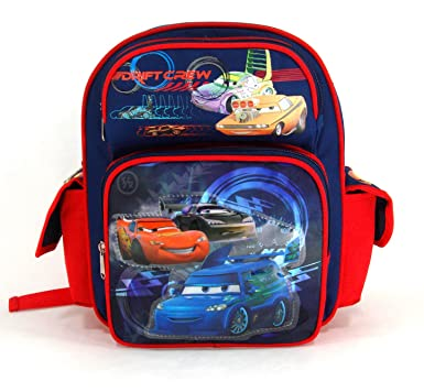 Amazon.com | Disney 12in Cars Toddler Backpack - Cars Drift Crew ...