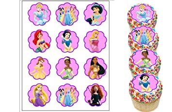 Disney Princess Edible Cupcake Toppers Birthday Party