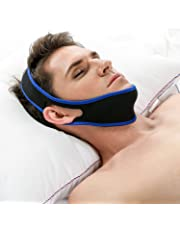 Acheer Adjustable Anti-Snore Stop Snoring Chin Strap Device Free Breathing Jaw Strap,Triangle shape (Straight)