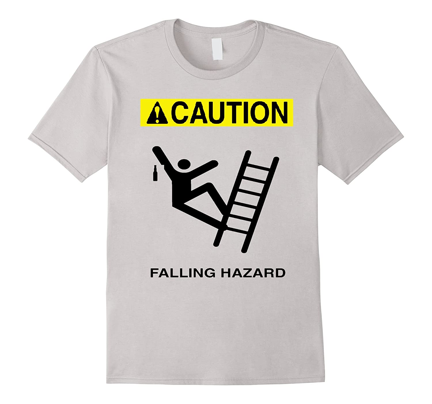 Drinking Falling Hazard Ladder Caution Shirt-BN