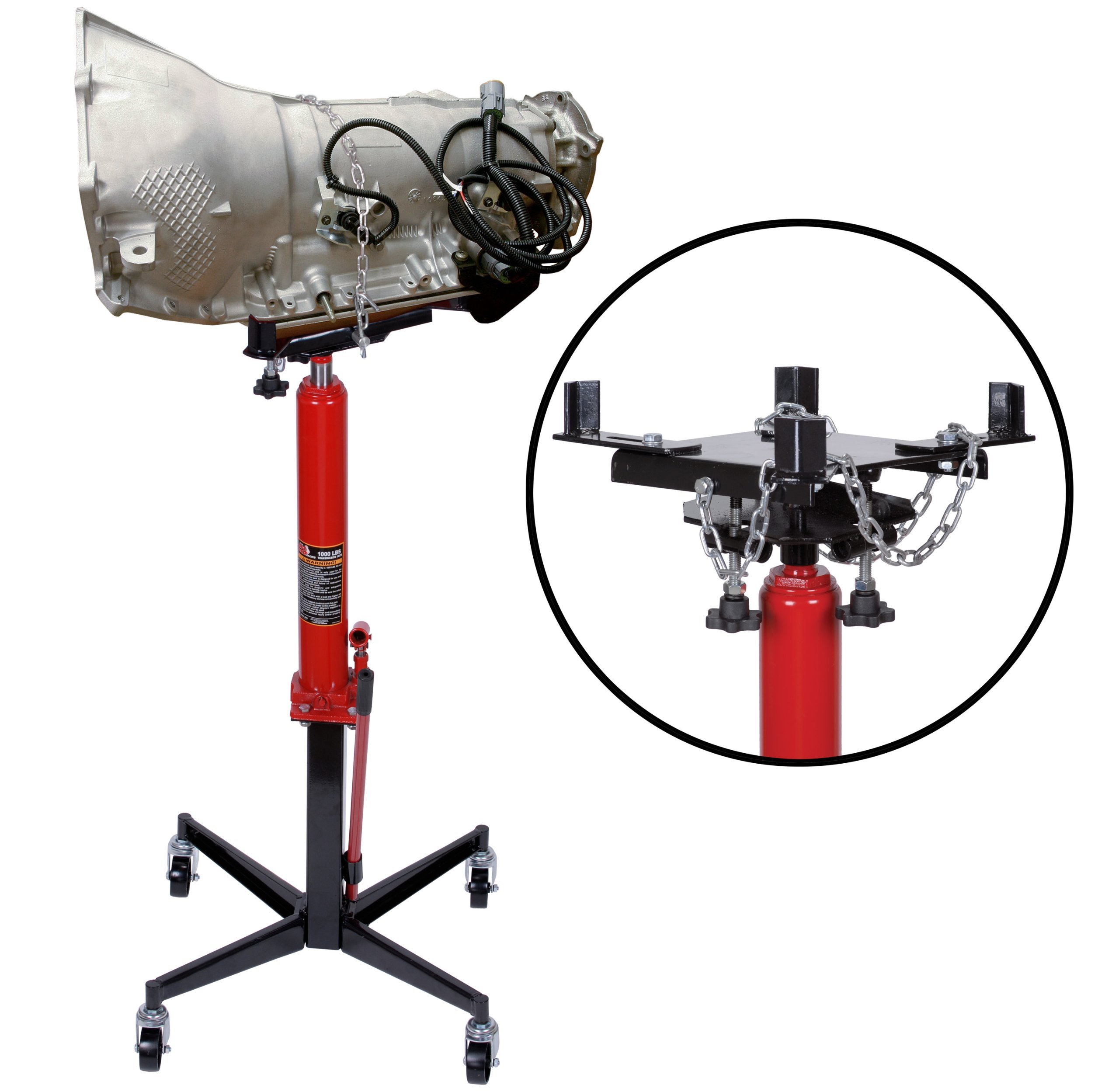 Torin Big Red Telescoping Hydraulic Transmission Floor Jack: 1/2 Ton (1,000 lb) Capacity by Torin (Image #1)