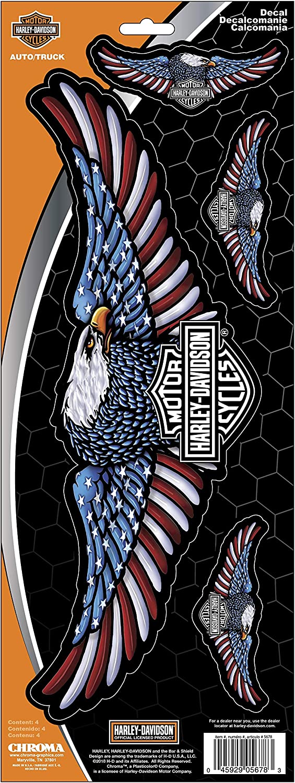 Chroma Harley-Davidson Eagle Decal