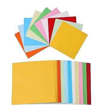 Papier Origamifeuille Couleur 100 Couleurs Papier Feuilles Carrées