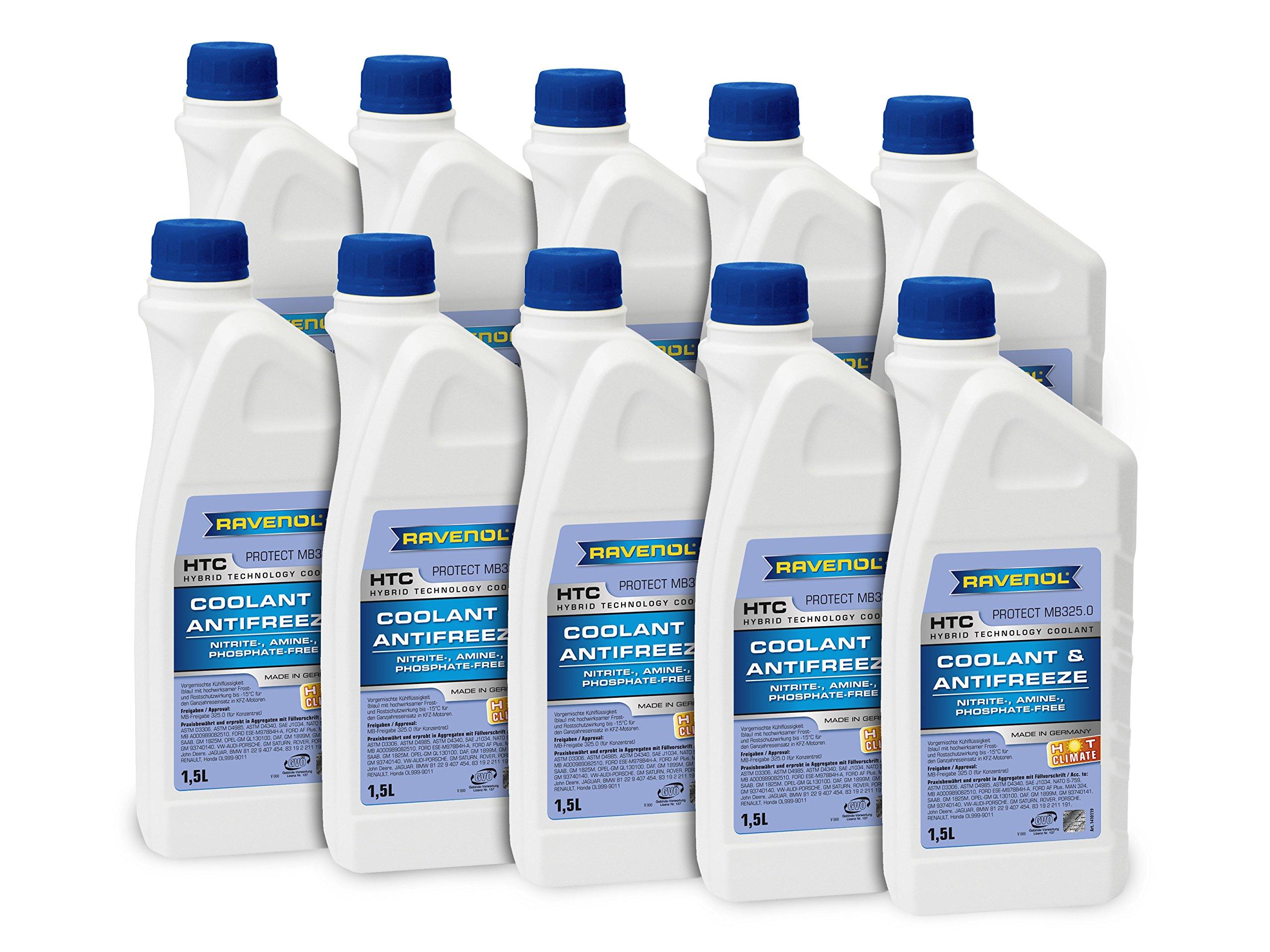 RAVENOL J4D2022-2-10 Coolant Antifreeze - HTC Hot Climate MB 325.0, VW TL 774-C (G11) (1.5L, Case of 10) by Ravenol