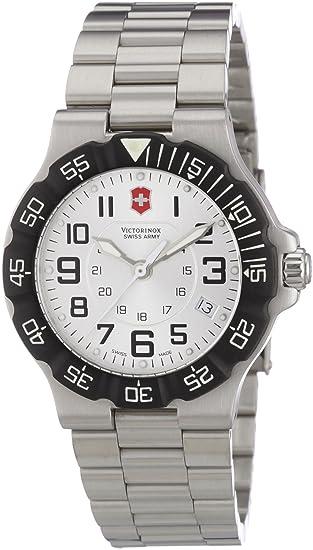 Victorinox Active 241346 - Reloj analógico de cuarzo para hombre, correa de acero inoxidable color