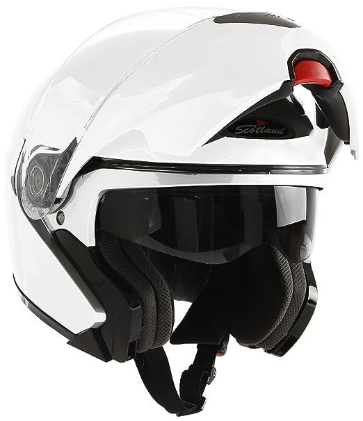 Amazon.es: Scotland Casco Modular de Moto Modelo Force 02, Negro Mate, 59-60 (L)
