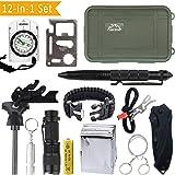 Exterior SOS Kit Autoayuda Camping Deportes Excursionismo Supervivencia de Emergencia Cuadro de Supervivencia de Engranajes ,10 en 1 supervivencia Tool