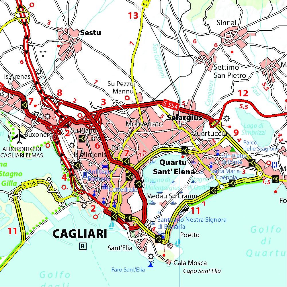 Cartina Sardegna Con Aeroporti.Amazon It Sardegna 1 200 000 Michelin Travel Publications Libri