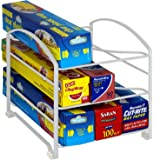 DecoBros Kitchen Wrap Organizer Rack, White