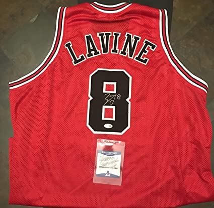 cheap for discount 4ca67 b52f3 Zach Lavine Autographed Signed Chicago Bulls Jersey Beckett ...