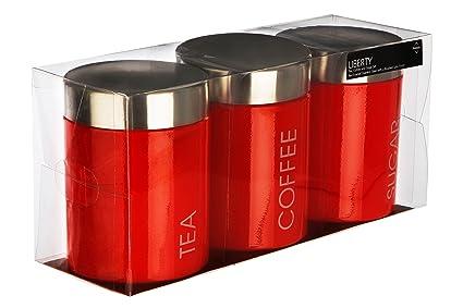 Premier Housewares Bote, Acero Inoxidable, Rosso, Centimeters: Amazon.es: Hogar