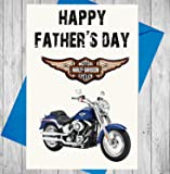 Father's Day Harley Davidson Themed Card - Happy Father's Day