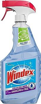 Windex Ammonia-Free Glass Cleaner Trigger 23 Fl Oz Bottle (Crystal Rain)