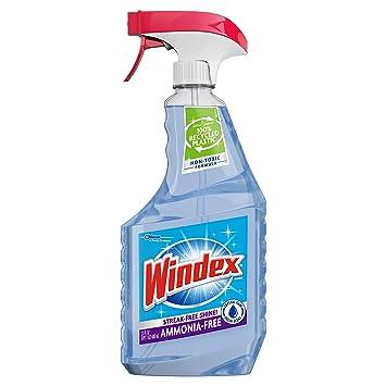 Amazon Com Windex Ammonia Free Glass And Window Cleaner Spray Bottle Crystal Rain Scent 23 Fl Oz Prime Pantry