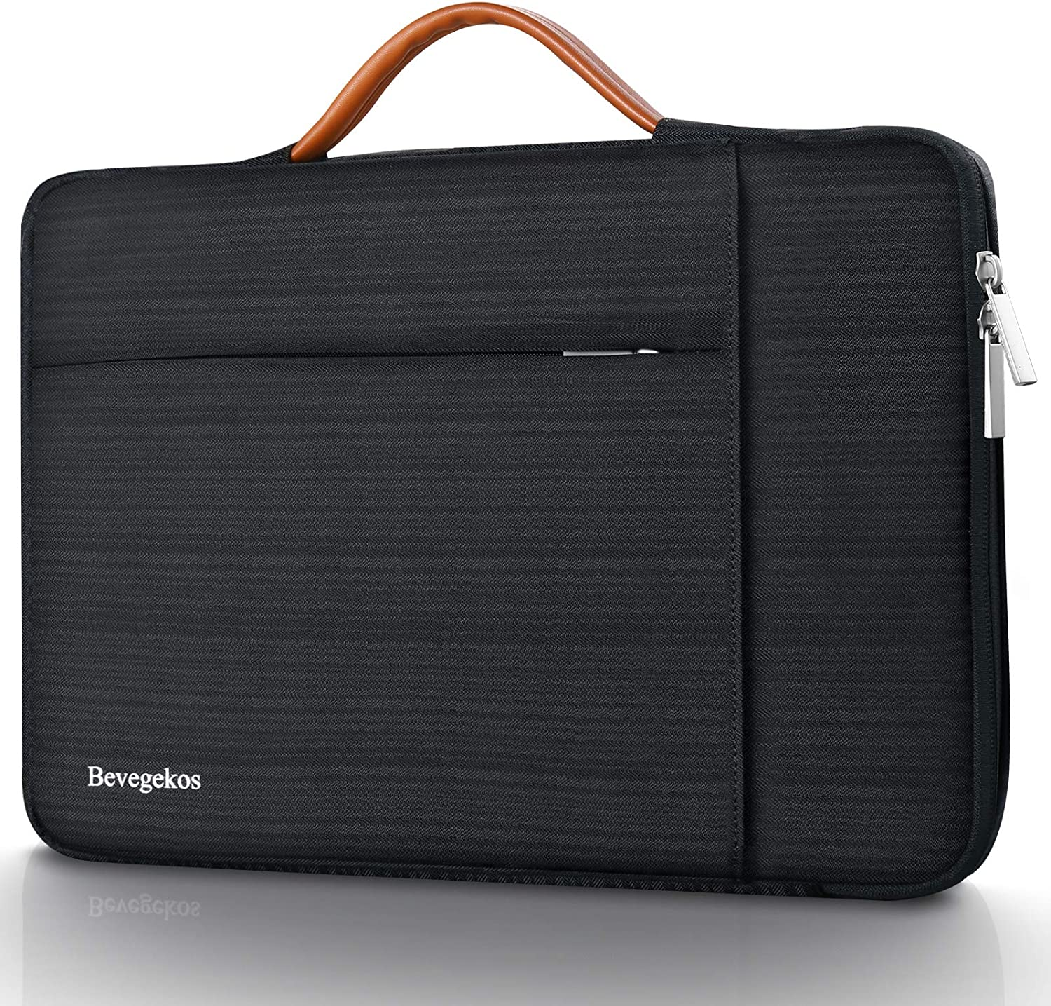 13 Inch Laptop Sleeve, Bevegekos 360 Protective Carrying Case for 13 inch MacBook Pro 2012-2020/MacBook Air 2010-2020/Surface Laptop 1/2/3, Book 1/2/3, Pro 3/4/5/6/7/X (Black)