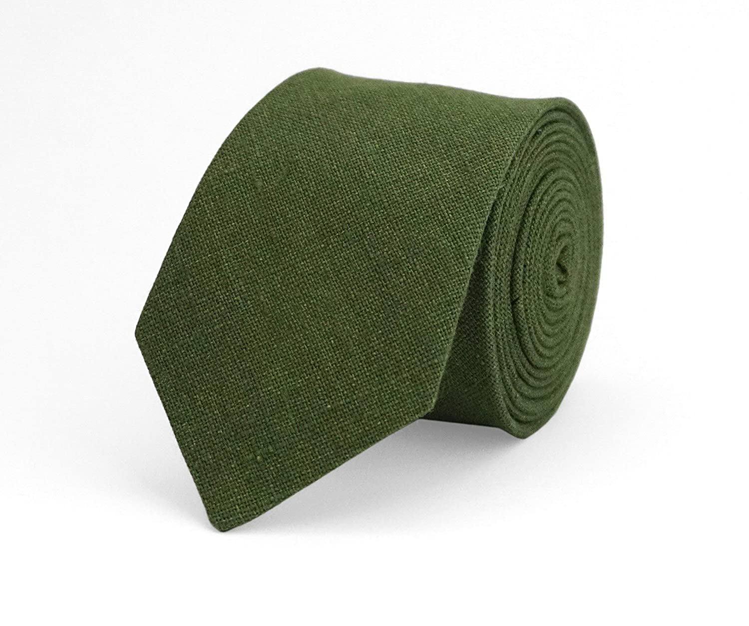 Moss green linen wedding necktie for groomsmen and groom//moss green bow ties for men and kids available with matching pocket square//stocking stuffer//moss green toddler boys bow ties