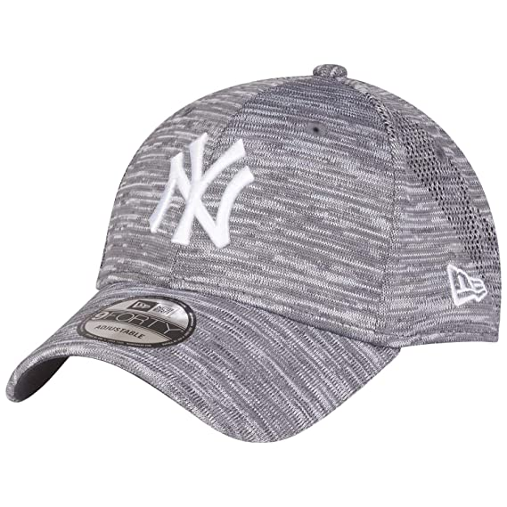 b3386bdda New Era 9Forty Engineered Fit Cap - New York Yankees Gris: Amazon.fr ...