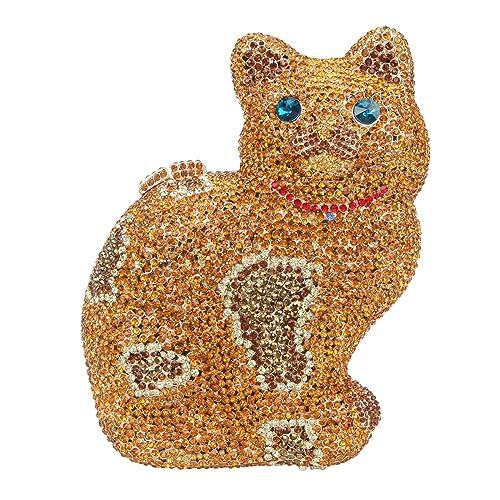Amazon.com: fawziya gato bolso de noche vidrio bolsas para ...