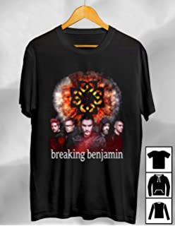Amazon.com: Breaking Benjamin para hombre Scroll playera ...