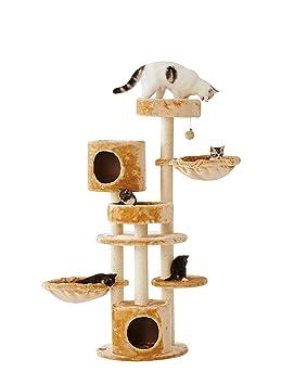 Sopapets - Rascador para Gatos con Dos cestas y casa para Gatos