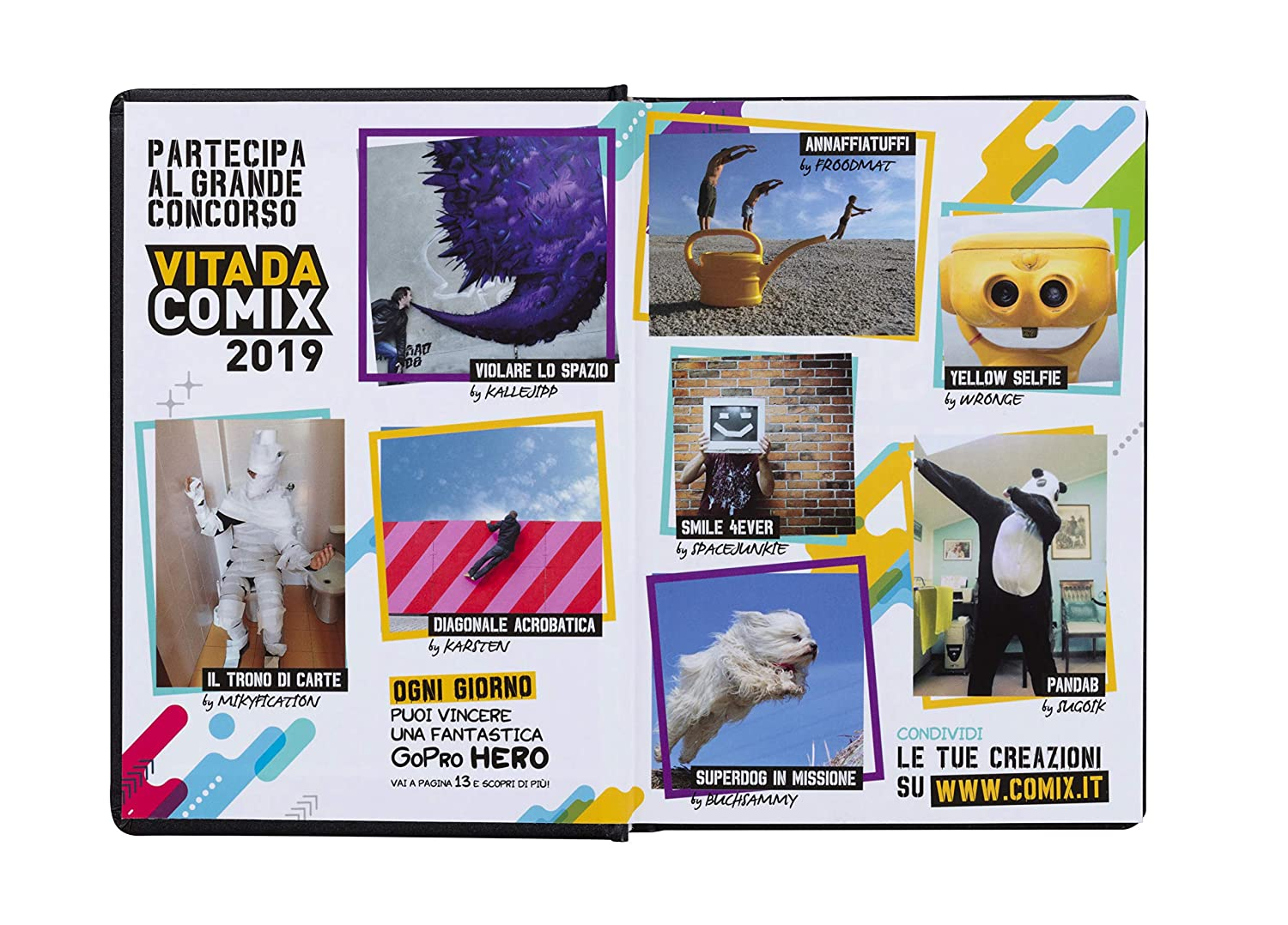Amazon.com: Comix Diary 16 Months Standard (Dated), Black ...