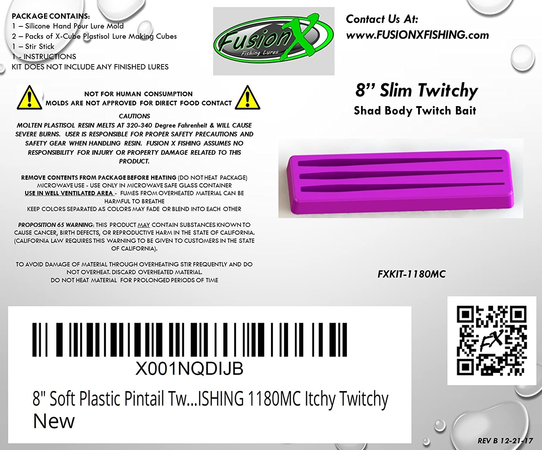 Amazon 8 Soft Plastic Pintail Twitch Jerk Bait Lure Making