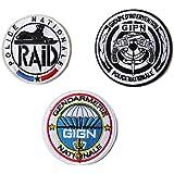 3点セット フランス特殊部隊 ベルクロワッペン GIGN GIPN RAID A0117
