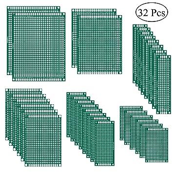 Amazon.com: Prototipo de placa PCB de doble cara de 32 ...