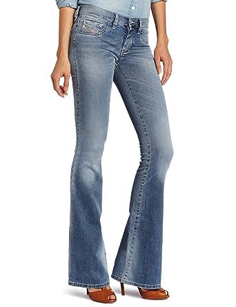 5f45d988 Amazon.com: Diesel Women's Livier Flare Leg Jegging 0069V, Denim 30 ...