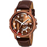 ZIERA ZR7091 Leather Strap Day and Date Boys Watch - for Men